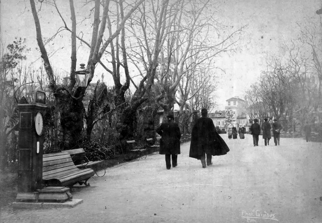 Imagem antiga do Jardim da Cordoaria