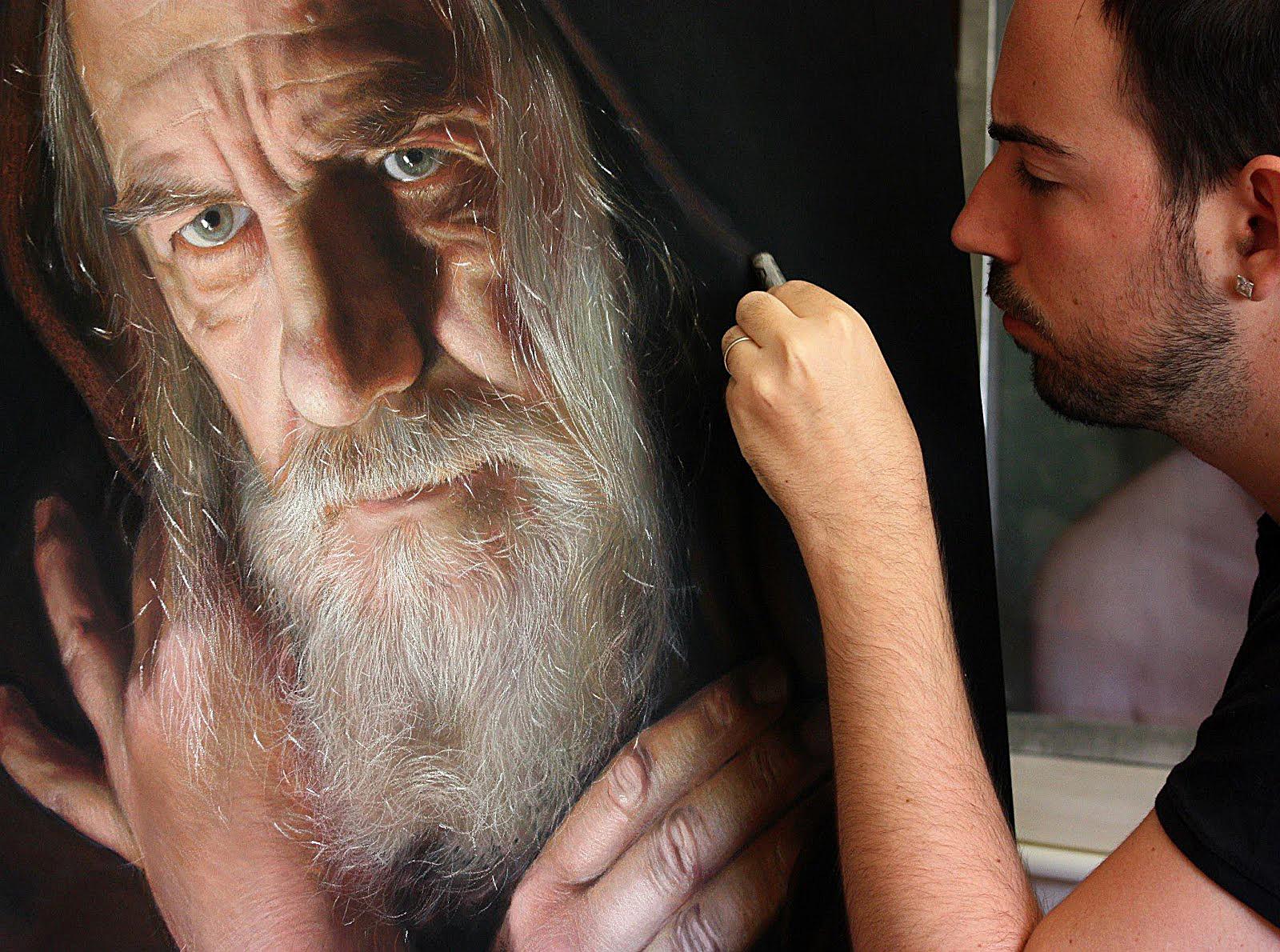 O artista a fazer magia