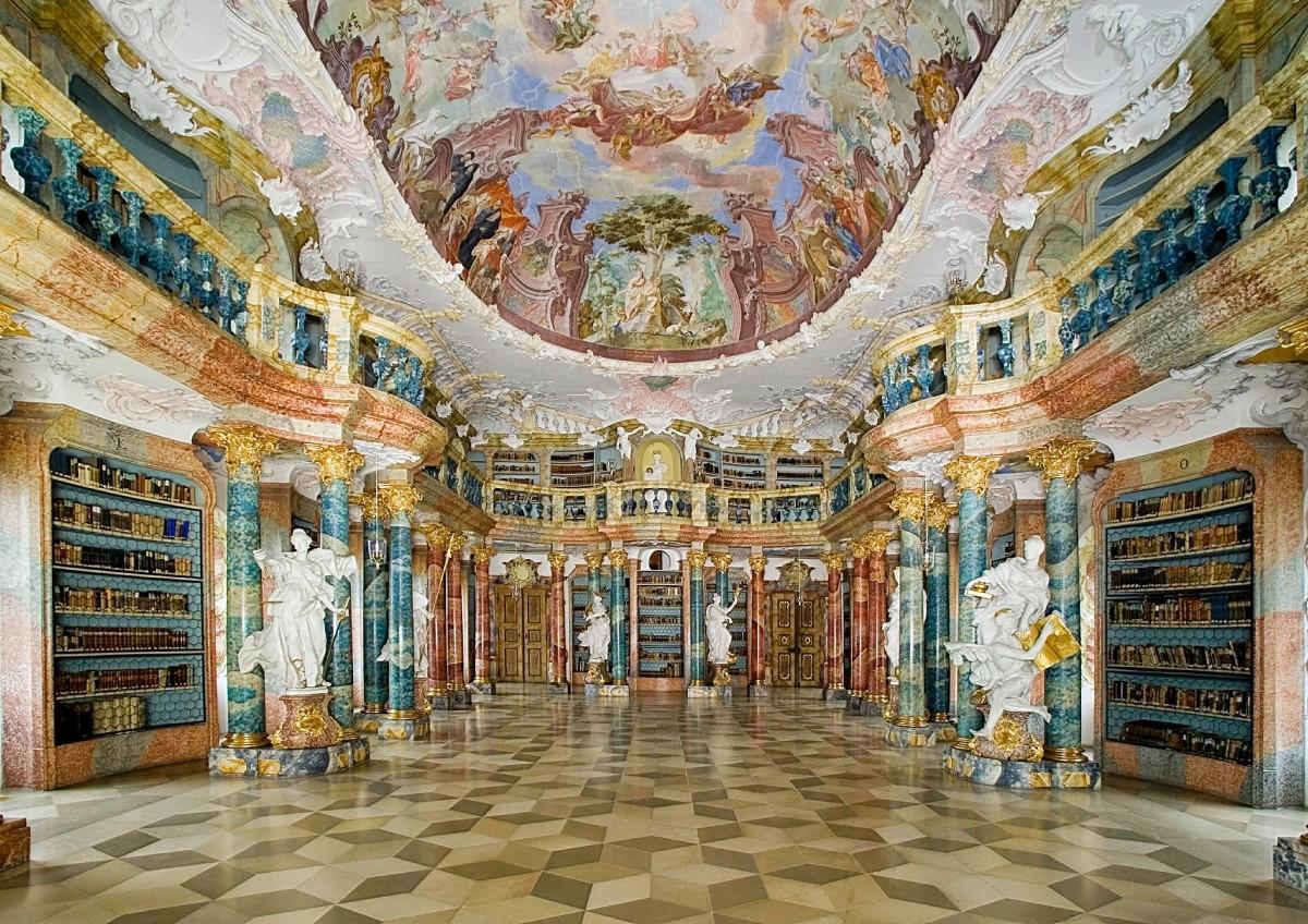 Biblioteca do Mosteiro de Wiblingen, Alemanha