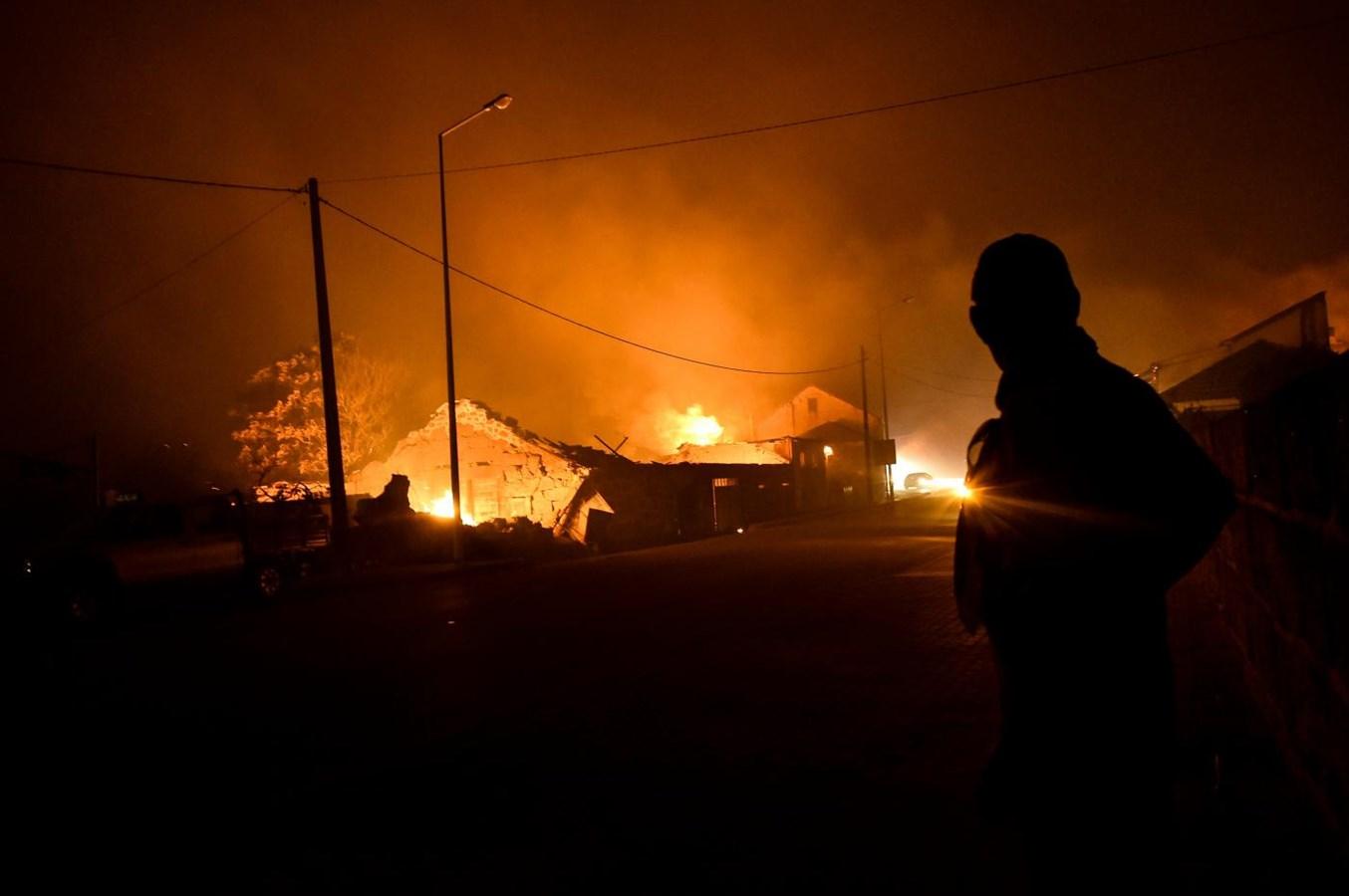 O pior dia do ano de incêndios em imagens