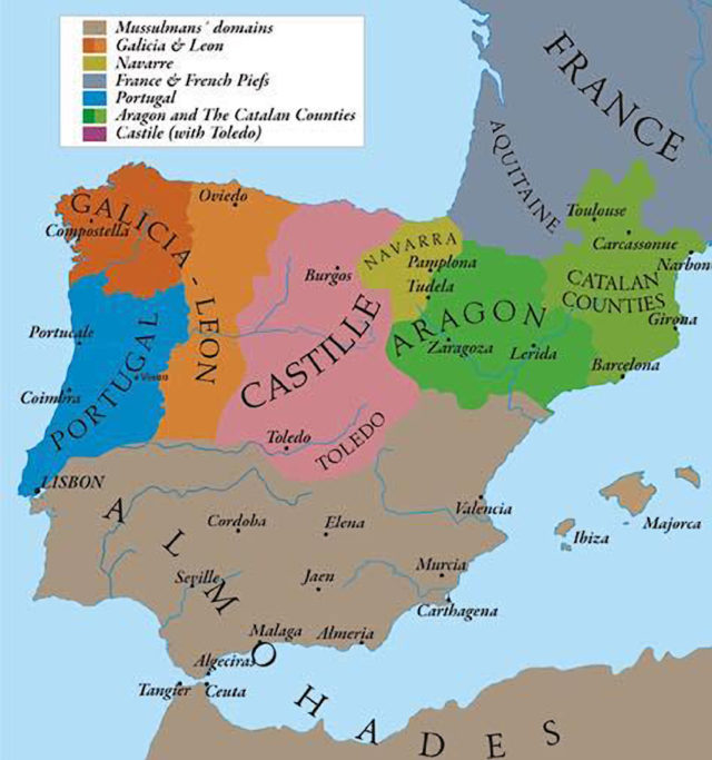 Há 800 anos, a Catalunha era parte de Espanha?