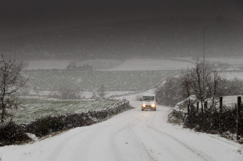 Bragança: um dos maiores nevões da década (fotos)