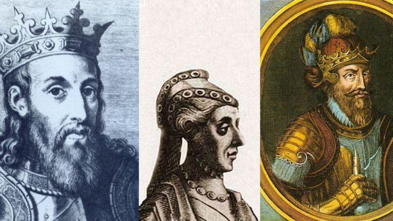 D. Sancho II - D. Mécia de Haro - D. Afonso III