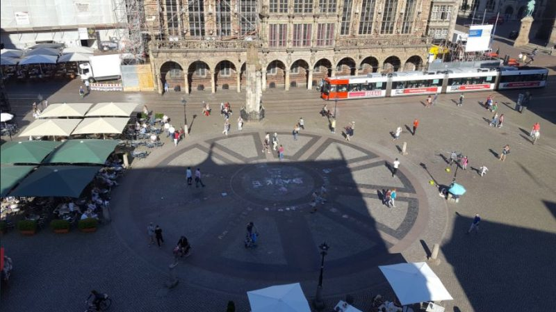 Praça Marktplatz em Bremen, Alemanha