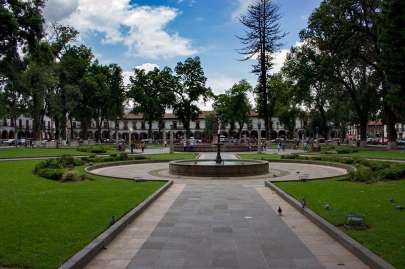 Praça Vasco de Quiroga, em Pátzcuaro, México