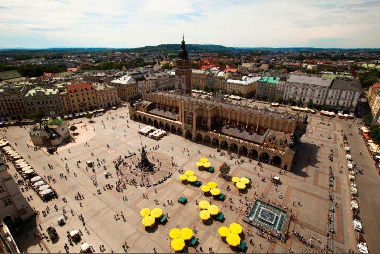Praça do Mercado, Cracóvia, Polónia