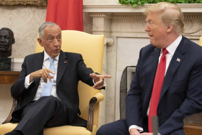 Marcelo e Trump, as melhores imagens -