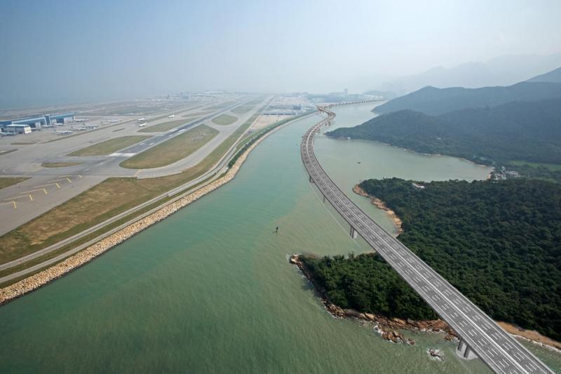 Espantosas imagens da maior ponte do mundo que liga Hong Kong a Macau