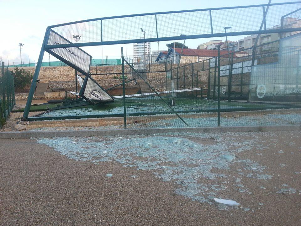 Portugal: O rasto de destruição de Leslie na Figueira da Foz