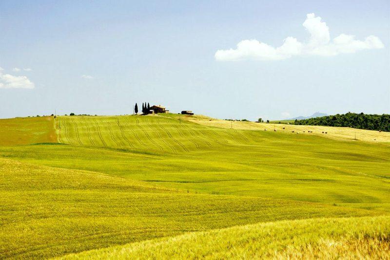 A paisagem toscana, Itália