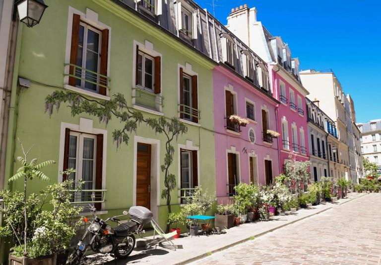 Rue Crémieux em Paris, França