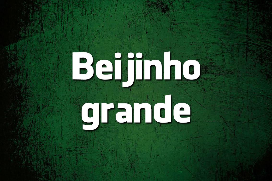 É erro de português «Beijinho grande»?