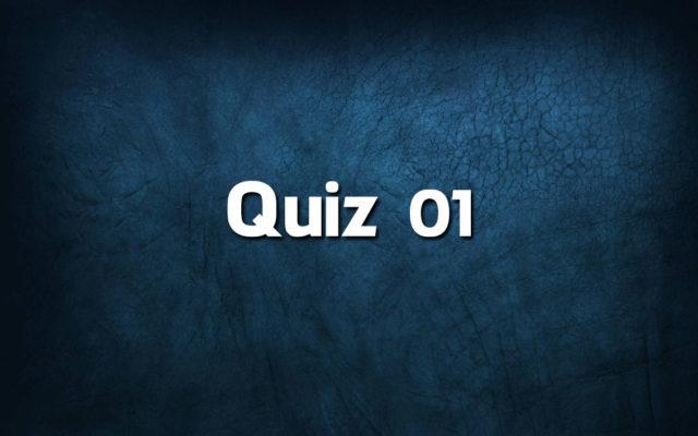 Quiz da Língua Portuguesa «01»