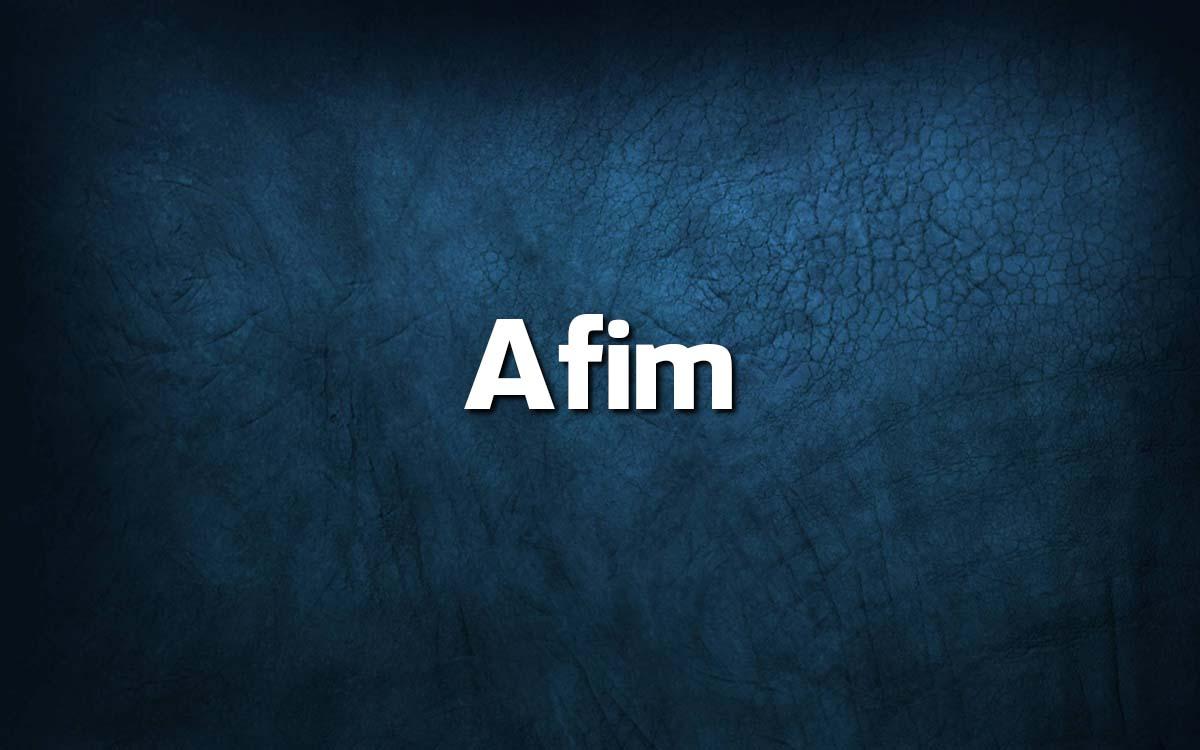 Língua Portuguesa: escreve-se A fim ou Afim?