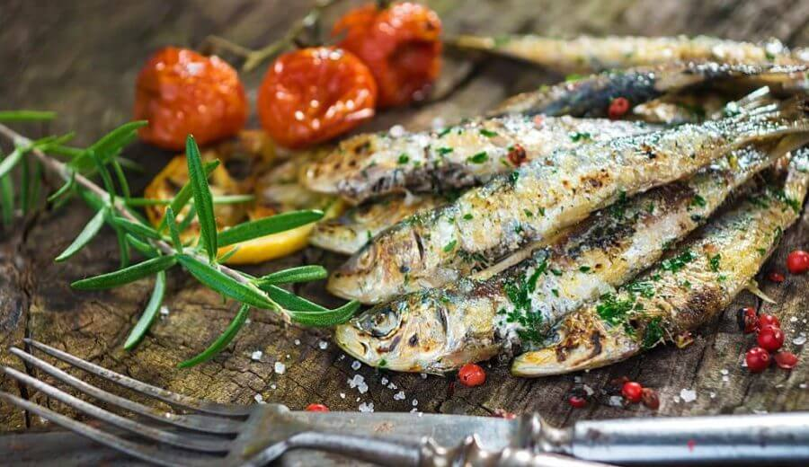 deliciosas sardinhas assadas