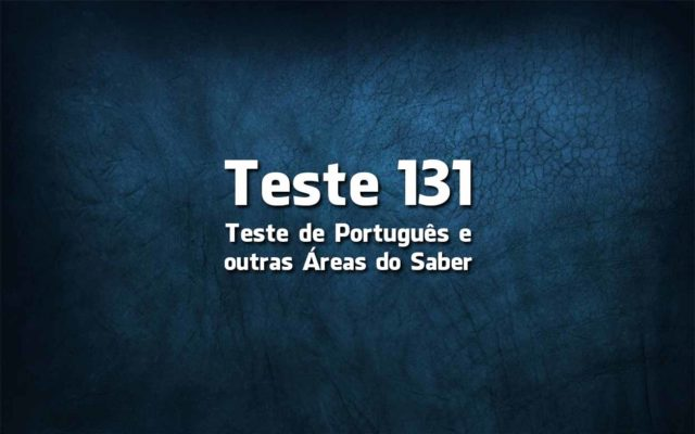 Teste de Língua Portuguesa «131»
