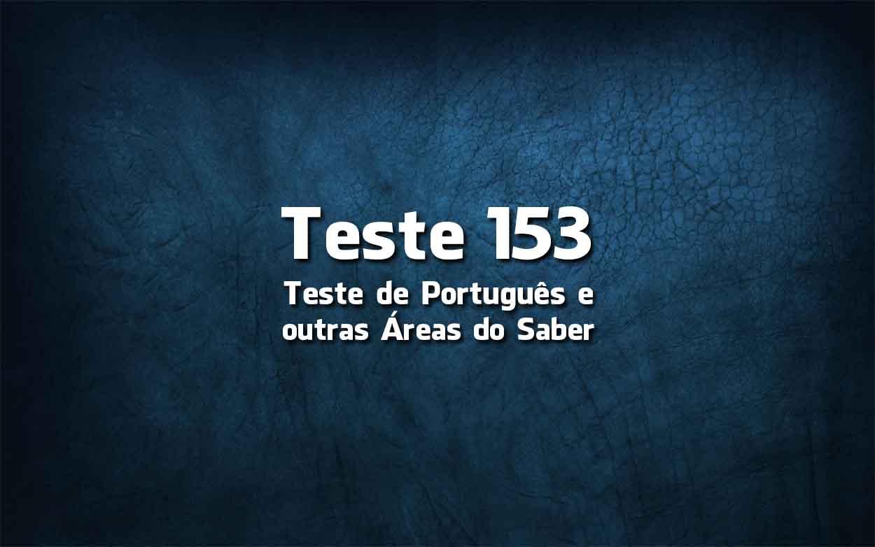 Teste de Português «153»