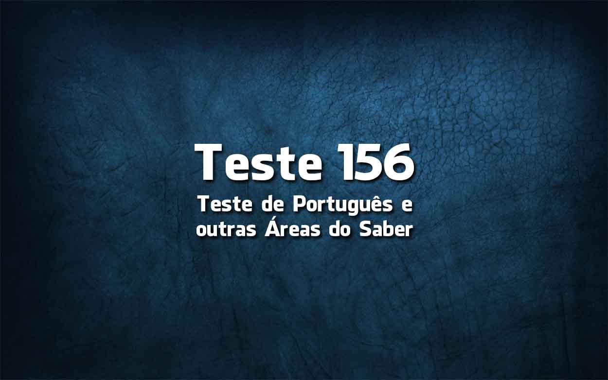 Teste de Língua Portuguesa «156»