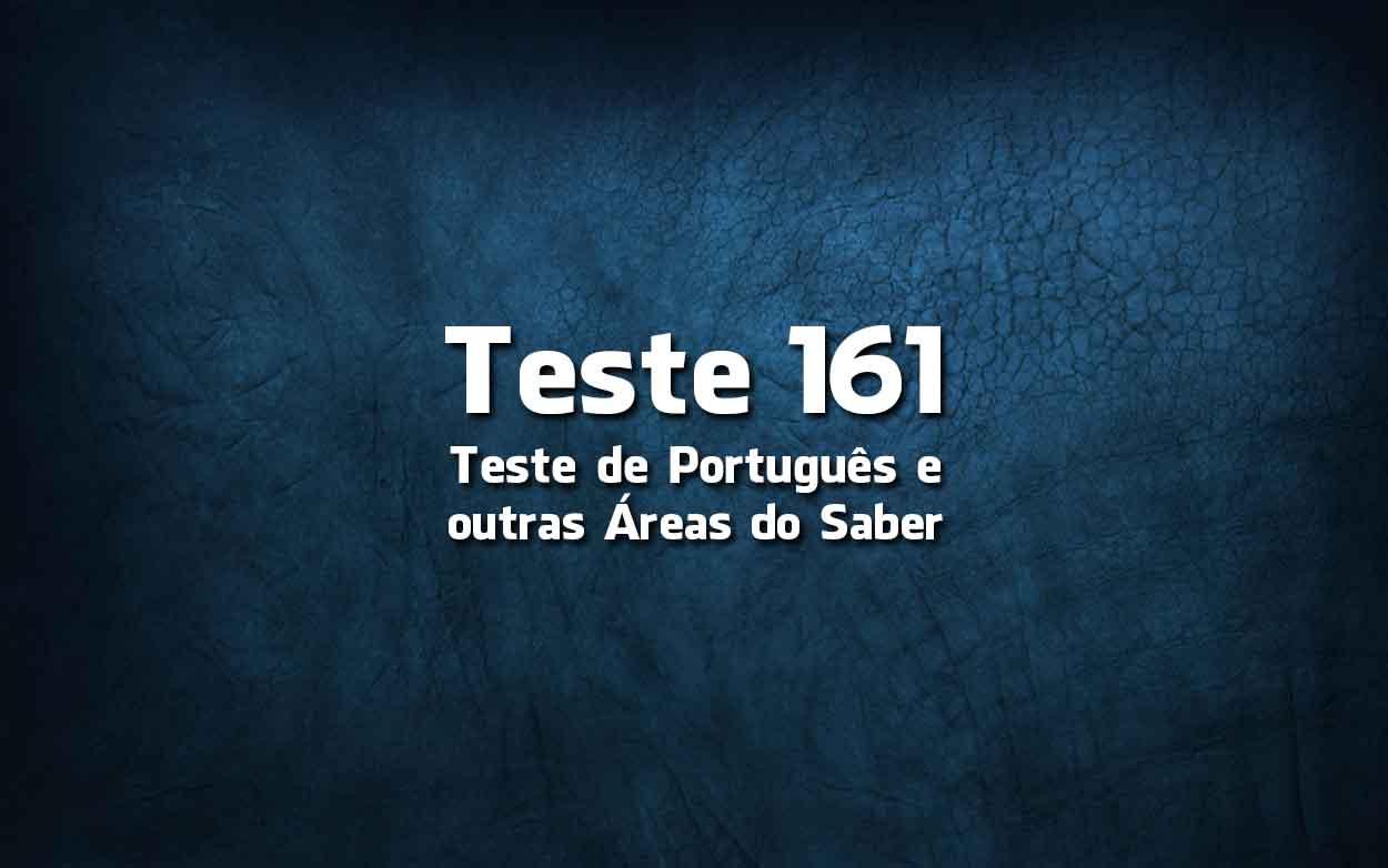Teste de Português «161»
