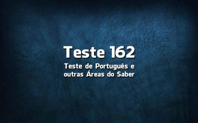 Teste de Língua Portuguesa «162»