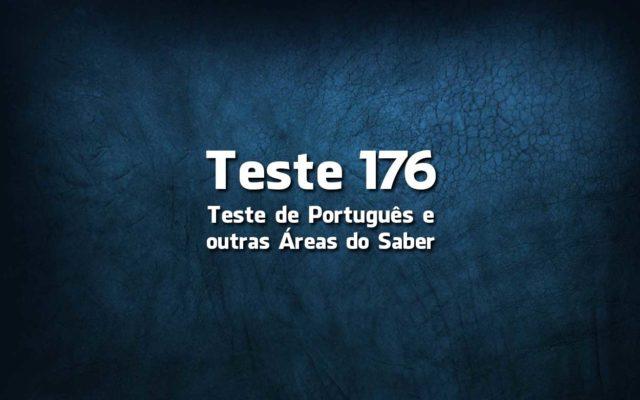 Teste de Português 176