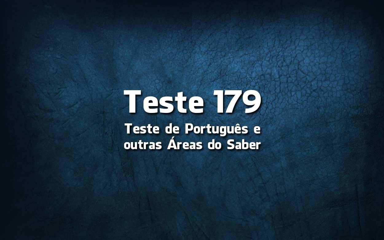 Teste de Português 179