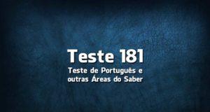 Teste de Português 181
