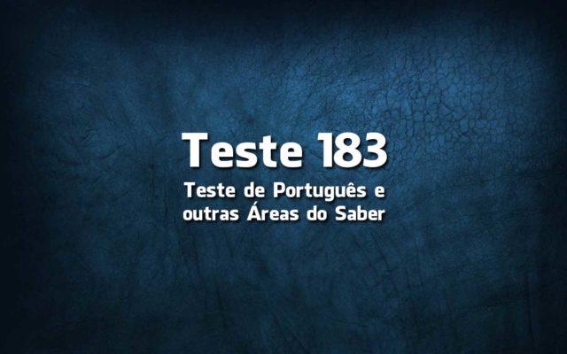 Teste de Língua Portuguesa 183