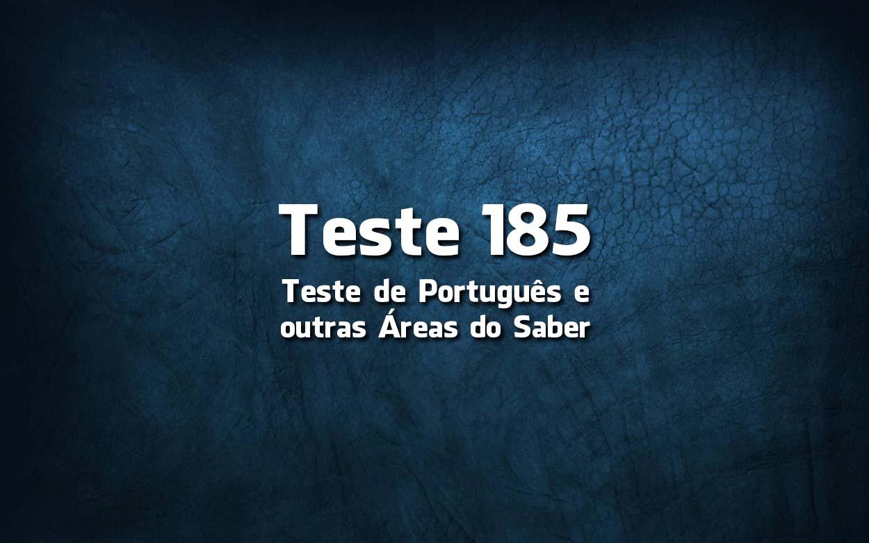 Teste de Português 185