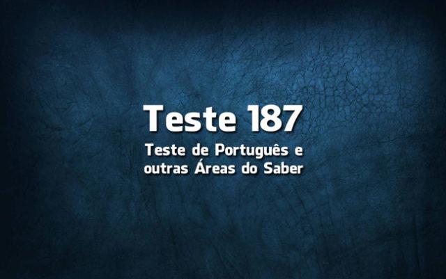 Teste de Português 187