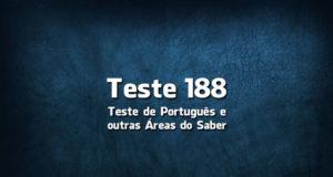 Teste de Português 188