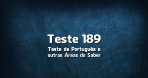 Teste de Português 189
