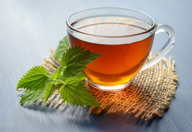 Chá verde ou camomila