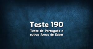 Teste de Português 190