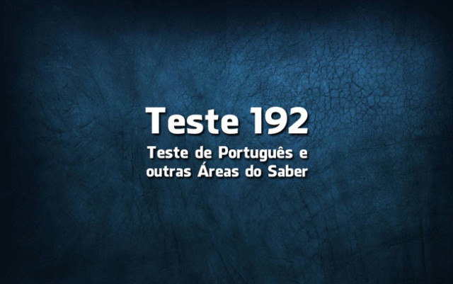 Quiz ou Teste de Português 192