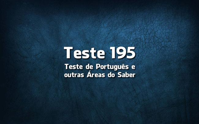 Quiz ou Teste de Português 195