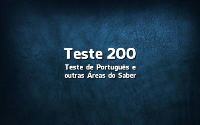 Quiz ou Teste de Português 200