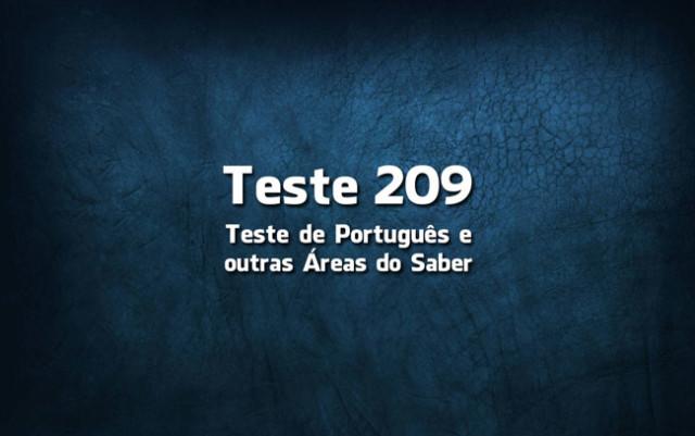 Quiz ou Teste de Português 209