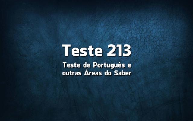 Quiz ou Teste de Português 213