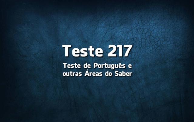 Quiz ou Teste de Português 217