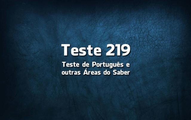 Teste de Língua Portuguesa 219