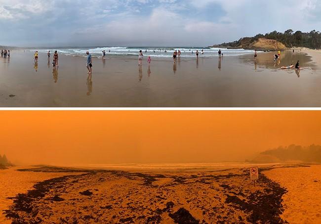 fotos dos incêndios na Austrália