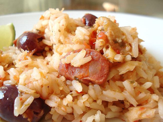 Receitas de arroz de bacalhau