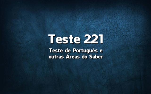 Teste de Português 221
