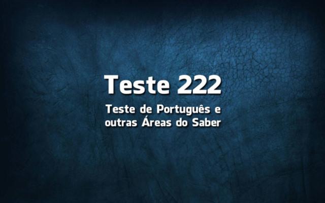 Teste de Português 222