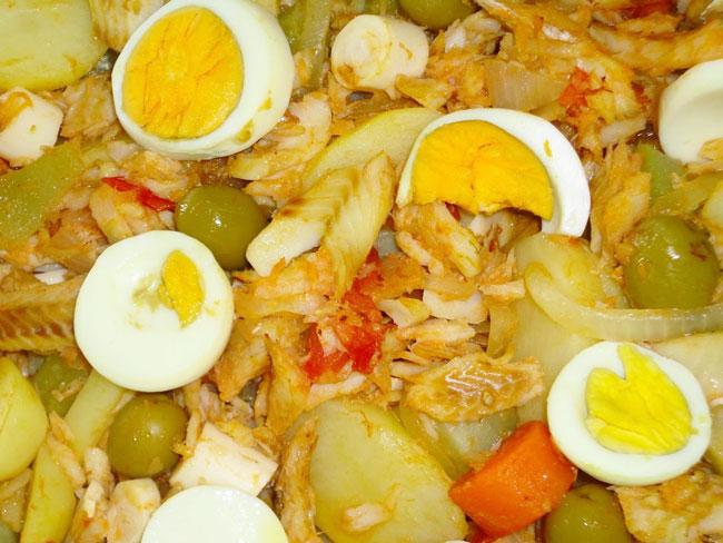 bacalhau com ovos