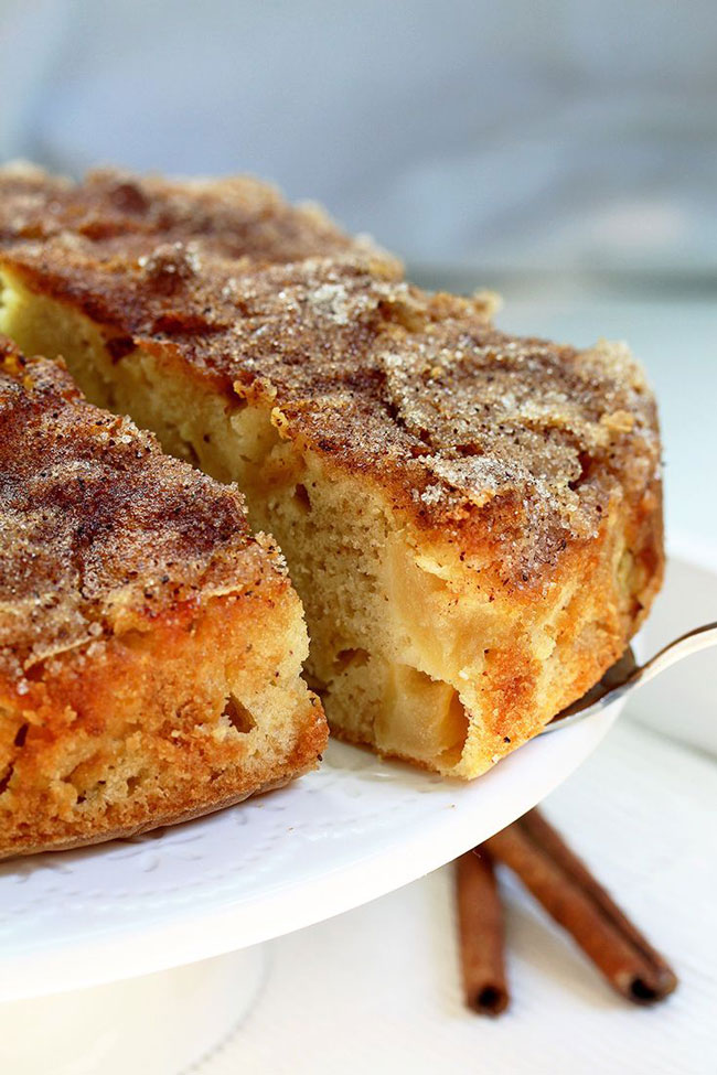 bolo de maçã light