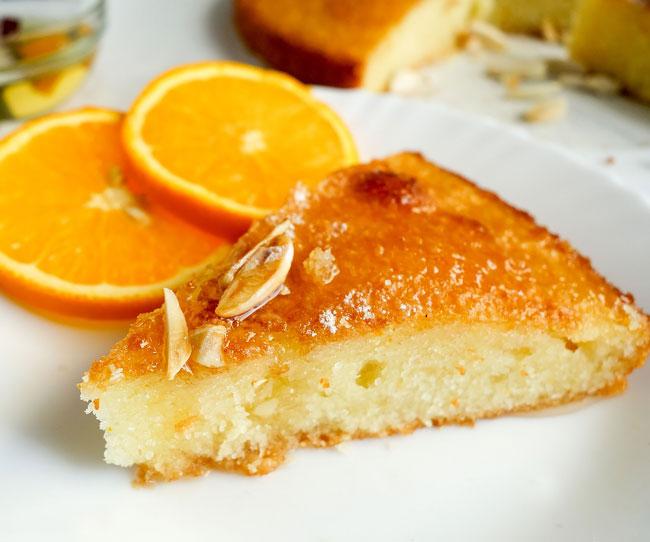 bolo de laranja e leite condensado