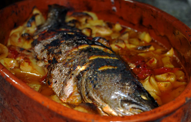 assados de peixe