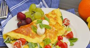 omeletas de camarão